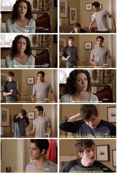 Melissa Ponzio (Melissa McCall) , Daniel Sharman (Isaac) , & Tyler Posey (Scott) - Teen Wolf