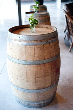 wine barrels = cocktail tables = yes!