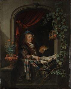 Gerrit Dou (Dutch, 1613–1675). Self-Portrait, ca. 1665. The Metropolitan Museum…