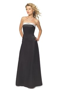 Alexia Designs 2612 Bridesmaid Dress | Satin two-tone dress with beaded and embroidered trim. Available in solid and ...