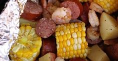 Ingredients  8-12 pieces of corn on the cob (4 full cobs cut in half or in thirds)  4 red potatoes, washed and cubed  20-30 unc...