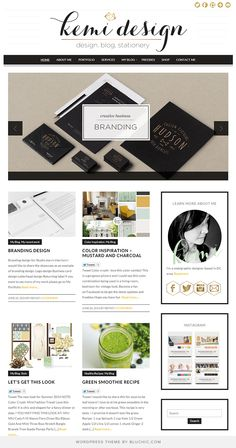 Business branding and web design website, running on the gorgeous Isabelle premade WordPress theme
