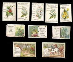 R01 - SMALL VICTORIAN RELIGIOUS MOTTO CARDS - FLORAL & SCENIC - BIBLE QUOTES | eBay