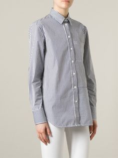 #victoriabeckham #shirt #stripes #white #navy #denim #womens www.jofre.eu