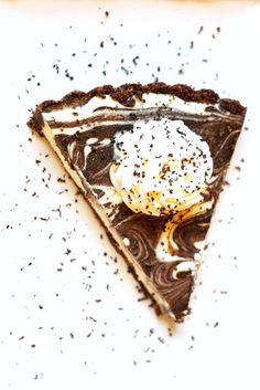 A low carb and THM Chocolate Swirl Cheesecake. Gluten Free