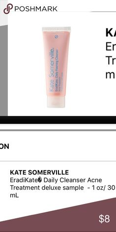 Kate Somerville acne face wash Brand new never used deluxe sample.Will ship Tuesday 3/28 Sephora Makeup