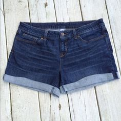 JCP - denim shorts, size 30/10 Mid-length, mid-rise denim shorts from JCP. Very cute and comfortable, selling only because I've lost weight and they no longer fit! VGUC. jcpenney Shorts Jean Shorts