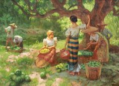 "Képtalálat a következőre: ""fernando amorsolo paintings"" Filipino Art, Filipino Culture, Colonial Art, Spanish Colonial, Filipino Fashion, Philippine Art, Filipiniana, Thai Art, World Of Color"