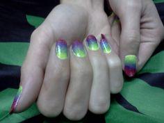 Rainbow Nail Art by Me