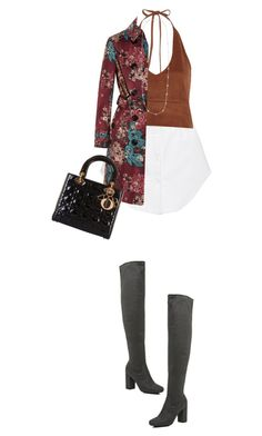 """""""Tracey"""" by mymemoolove ❤ liked on Polyvore featuring Thakoon, River Island, Burberry and Kate Spade"""