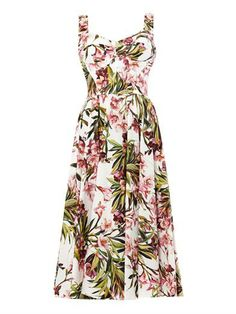 Oleander flower-print dress | Dolce & Gabbana | MATCHESFASHION...