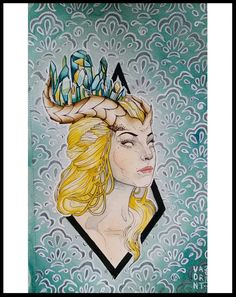 Watercolor Paintings, Watercolour, Neo Traditional, Old Ones, Local Artists, Horns, My Arts, Princess Zelda, Ink