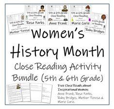 Women's History Month 5th Grade & 6th Grade Close Reading