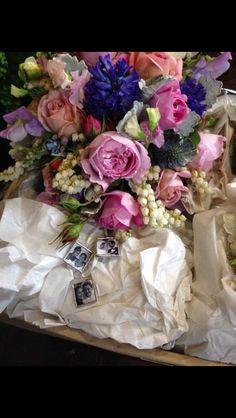 Detail on brides bouquet