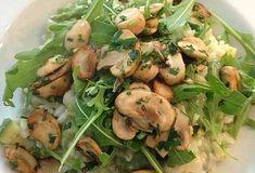 zomerse groenterisotto Lemon Garlic Shrimp, Kale Salad, Caramelized Onions, Risotto, Potato Salad, Nom Nom, Pasta, Meat, Chicken