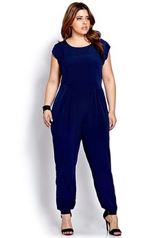 Sophisticate Cutout Jumpsuit | FOREVER21 PLUS - 2000091221 #Jumpsuits #PlusSizeFashion #Well-RoundedFashion