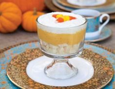 Candy Corn Trifles - TeaTime Magazine
