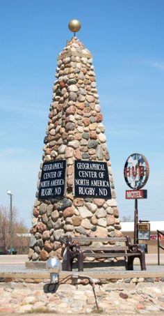 Monument for the Geographic Center of North America in Rugby, ND