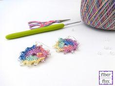 #Crochet earrings free pattern with glass beads from @fiberflux