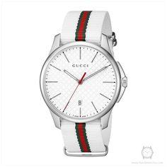 bddc5aaf96d Gucci Men s YA126322 G-Timeless Analog Display Swiss Quartz White Watch Buy  Gucci
