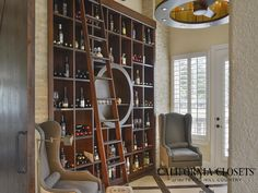 A Custom Wine Library Designed, Created And Installed By Our Incredible  Team At California Closets Of The Texas Hill Country.