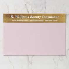 Faux Gold Monogram Business Consultant Paper Pad - monogram gifts unique custom diy personalize