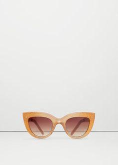 7717753a0fb36 Óculos de sol purpurina - Mulher