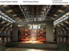 The Royal Shakespeare Company has loaded up 34 shipping containers and built a replica of its Stratford-Upon-Avon stage inside the Park Avenue Armory Theater Architecture, Royal Shakespeare Company, Visual And Performing Arts, Theatre Design, Scenic Design, Park Avenue, Concert Hall, Scenery, Old Things