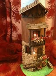 sandylandya@outlook.es  decorare tegole - Cerca con Google Fairy Crafts, Diy And Crafts, Arts And Crafts, Decoupage, Biscuit, Clay Houses, Roof Tiles, Altered Bottles, All Holidays