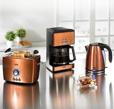 copper toaster and kettle - Google Search
