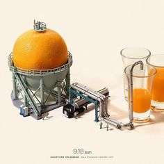Bigger doesn't always mean better, as Japanese artist Tatsuya Tanaka proves with these tiny dioramas that he makes for his ongoing Miniature Calendar project. Miniature Photography, Toys Photography, Photography Collage, Miniature Calendar, Art Du Monde, Ideias Diy, Photocollage, Tiny World, Mini Things