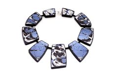 Blue Statement Necklace Contemporary Art Jewelry by JagnaB on Etsy