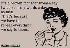 Women say twice as many words