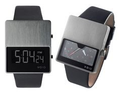 VOID Watches - The watch faces are half glass and half stainless steel, resembling the horizon they're inspired by.