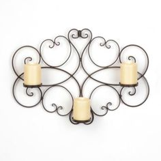 Scrolled Bronze 3-Candle Sconce | Kirkland's