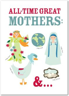 All-Time Greatest - Mother's Day Greeting Cards in White | Pinkerton Design