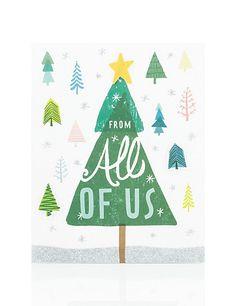 All of Us Christmas Tree Christmas Card | M&S