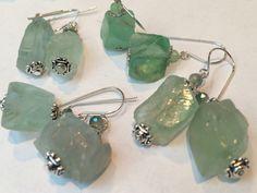 Chunky glass earrings.