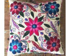 Indienne ethnique noir broderie Mirror Work Throw Pillow Cushion Cover Home Decor