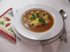 Tojásleves Thai Red Curry, Soup, Ethnic Recipes, Soups, Soup Appetizers