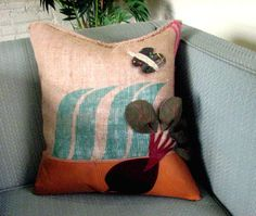 Eat your beets! (or just relax on them)  #homedecor #interiordesign #throwpillow #vegetarian