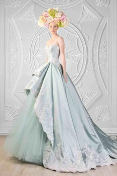 Rami Kadi Ice Blue Prom Dresses 2016 Princess Style Sweetheart Beauty Party Dress With Exquisite Lace Applique Middle…