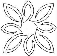 Hand Quilting Stencils | Pear Leaf Medallion