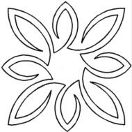 Hand Quilting Stencils | Pear Leaf Medallion