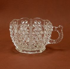 EAPG Bryce Hobnail Rope Panel Custard Punch Cup Antique. $18.00, via Etsy.