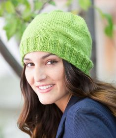 Comfy Beanie Free Knitting Pattern in Red Heart Yarns