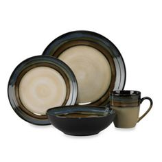 Pfaltzgraff® Galaxy 16-Piece Dinnerware Set - BedBathandBeyond.com To 'go with' our current flea market dinnerware