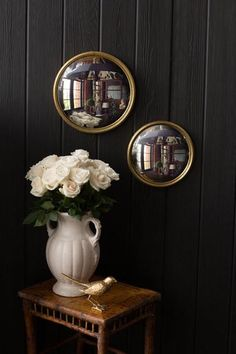 Bulls Eye Mirror in Gold Leaf by Vagabond Vintage