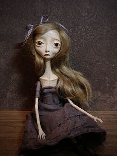RESERVED Eliza - Gothic Victorian Art Doll - Reserved balance for Tabitha