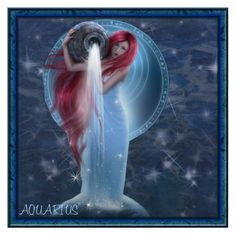 HAPPY BIRTHDAY AQUARIUS! by ritadolce on Polyvore featuring art